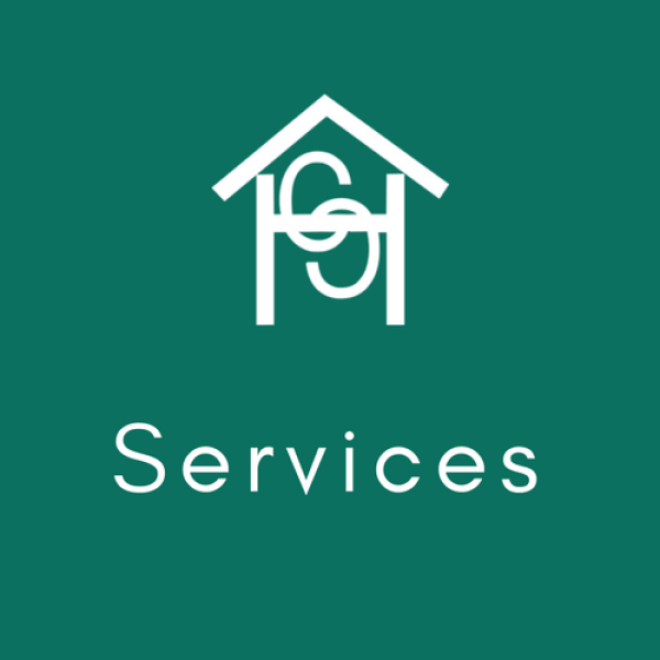 CHC logo with the word Services under it as a link